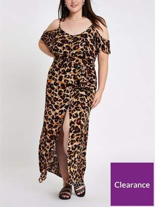River Island RI Plus Maxi Dress - Leopard Print