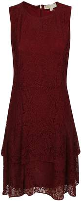 Michael Kors Double Flounce Lace Dress