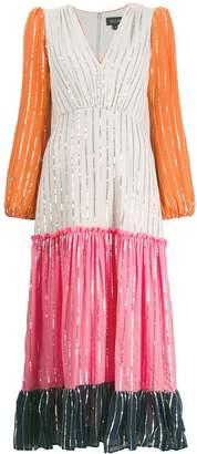 Saloni colour block dress