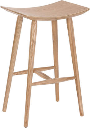 Webster Temple & Yoko Curved Ash Wood Barstool