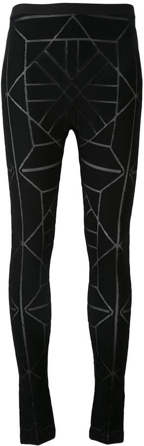 Gareth Pugh geometric pattern leggings