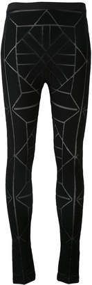 Gareth Pugh geometric pattern leggings