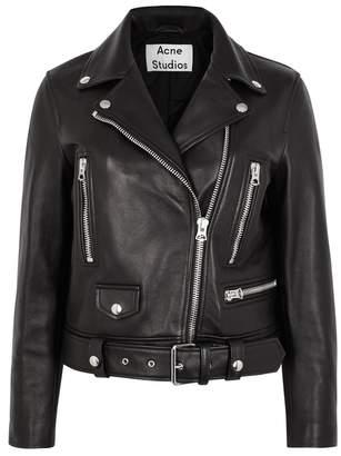 Acne Studios Mock Slim Leather Biker Jacket