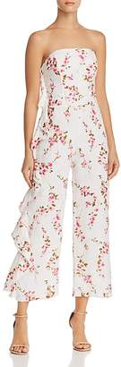 Karina Grimaldi Ramona Ruffled Floral Linen Jumpsuit
