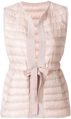 Moncler waist-tied padded gilet