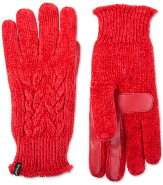 Macy's Isotoner Signature Isotoner Women's Touchscreen Chenille Cable-Knit Gloves