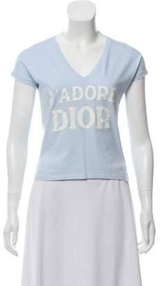 Christian Dior V-Neck Top