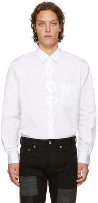 Comme des Garcons White Fantasy Button Shirt