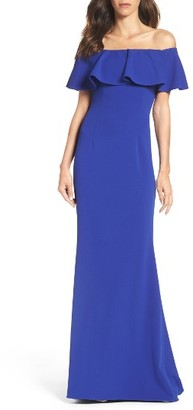 Women's Adrianna Papell Off The Shoulder Gown $189 thestylecure.com