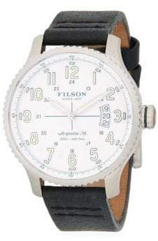Filson Mackinaw Stainless Steel and Leather-Strap Watch
