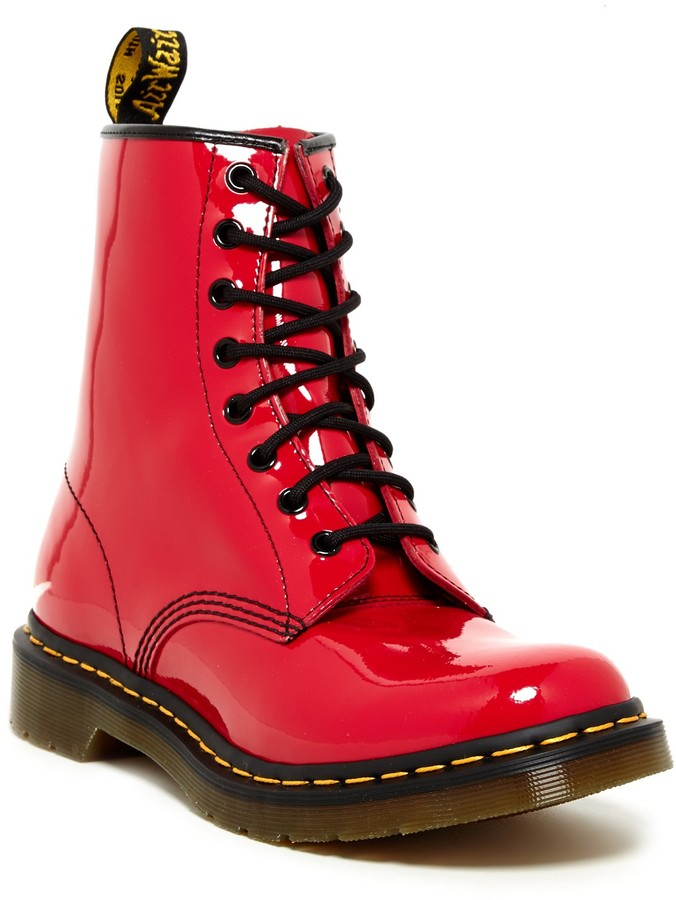 Dr. MartensDr. Martens Patent Lace-Up Boot