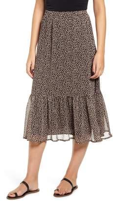 Ten Sixty Sherman Ruffle Hem Midi Skirt