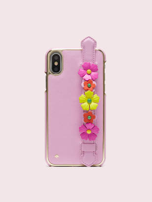 Kate Spade floral iphone x & xs handstrap stand case