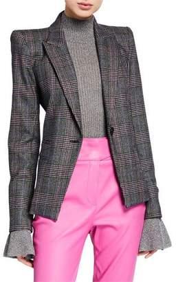 Veronica Beard Brock Strong-Shoulder Dickey Jacket