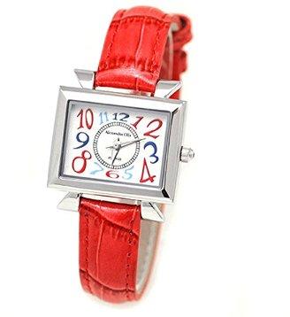Alessandra Olla (アレッサンドラ オーラ) - Alessandra Olla腕時計スクエアフェイスカラフルインデックスシルバーレッドao-2550 – 1 SV / RDレディース