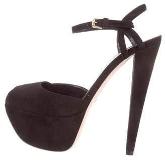 Giambattista Valli Suede Platform Sandals w/ Tags