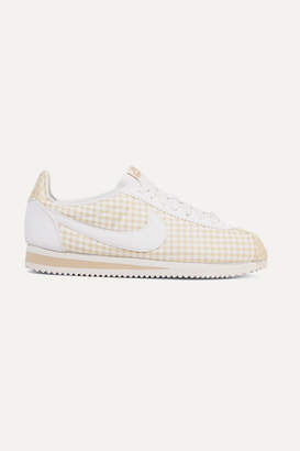 Nike Classic Cortez Gingham Canvas Sneakers - Beige