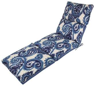 Comfort Classics Channeled Reversible Indoor/Outdoor Chaise Lounge Cushion