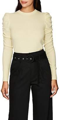 LES COYOTES DE PARIS Women's Amelie Cashmere Puff-Sleeve Sweater - Yellow