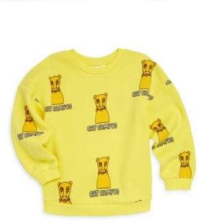 Mini Rodini Baby Girl's, Little Girl's& Girl's Cat Campus Sweater