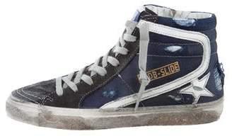 Golden Goose Slide Denim Sneakers
