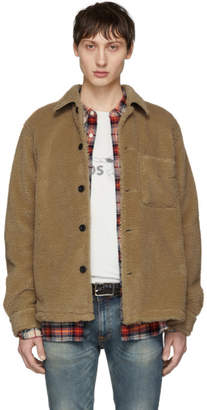 Nudie Jeans Beige Recycled Fleece Sten Jacket