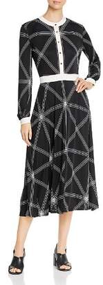 Tory Burch Anja Printed Midi Dress