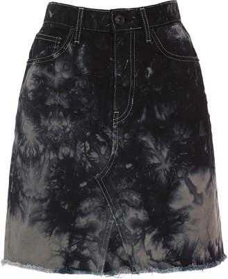 Proenza Schouler PSWL Tie-Dye Denim Skirt