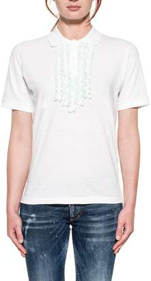 DSQUARED2 White/acqua Green Polos