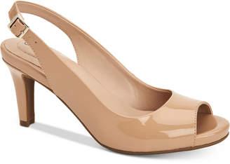 Giani Bernini Laycee Memory-Foam Peep-Toe Slingback Pumps, Created for Macy's Women's Shoes