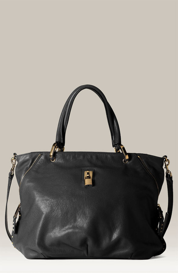 Marc Jacobs 'Paradise Amber' Studded Lambskin Leather Tote