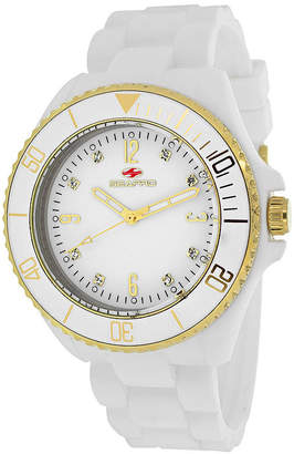 Seapro Sea Bubble Ladies White Silicone Strap Bracelet Watch