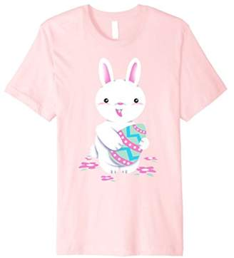 Easter Bunny Holding Egg Graphic Premium T-Shirt