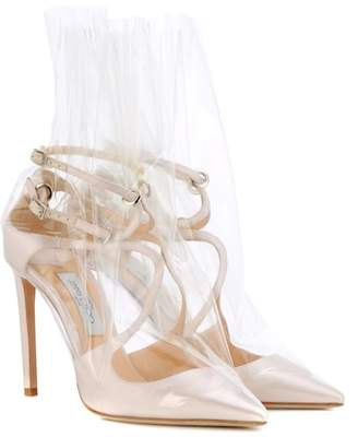 Jimmy Choo x Off-White Claire 100 satin pumps