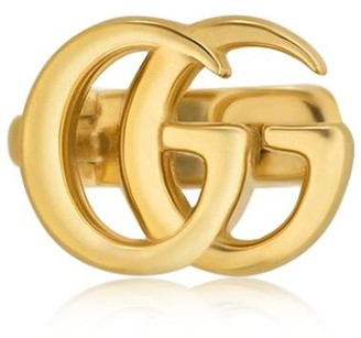 Gucci 18kt Yellow Gold Gg Mono Ear Cuff