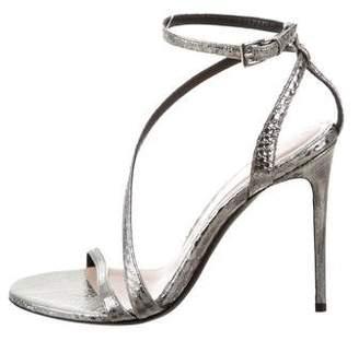 Barbara Bui Metallic Snakeskin Sandals