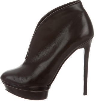 B Brian Atwood Leather Platform Booties $155 thestylecure.com