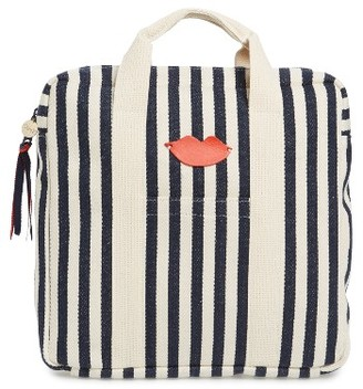 Clare V. Simon Stripe Backpack - Blue $299 thestylecure.com