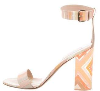 Valentino Leather Ankle-Strap Sandals