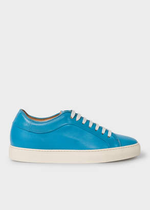 Paul Smith Men's Turquoise Leather 'Basso' Trainers
