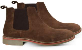 Curito Clothing Curito Mens Suede Leather Chelsea Boots - Tan