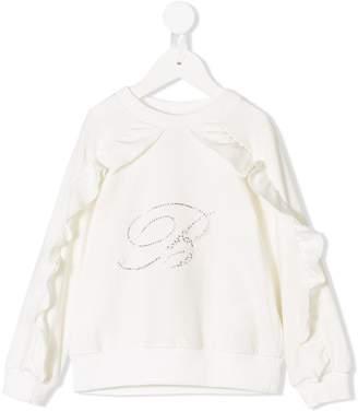 Miss Blumarine ruffled sweatshirt