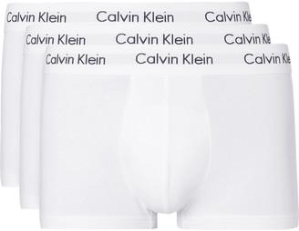 Calvin Klein Underwear Three-Pack Stretch-Cotton Boxer Briefs $55 thestylecure.com
