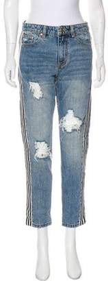 P.E Nation Mid-Rise Straight Jeans w/ Tags