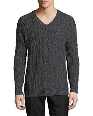 John Varvatos Men's Long Sleeve V-Neck