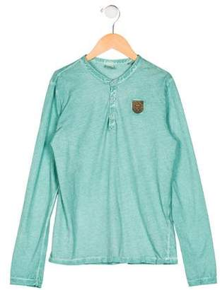 Scotch & Soda Girls' Long Sleeve Patch Top