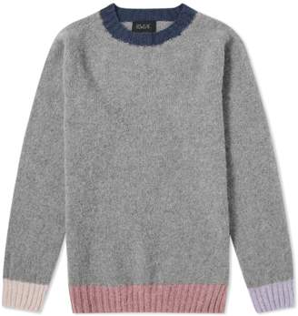 Howlin By Morrison Howlin' Behind The Light Contrast Crew Knit