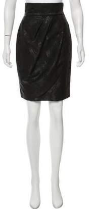 Hoss Intropia Metallic-Accented Knee-Length Skirt
