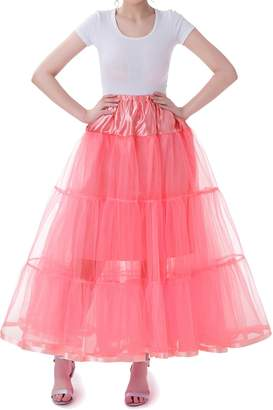Tsygirls Women's Long Wedding Gown Petticoat Slips Underskirt for Formal Dress