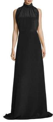 Derek Lam Shirred Silk Sleeveless Gown